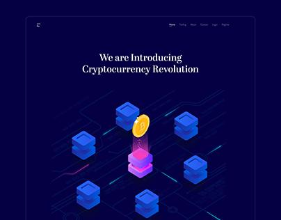 Cryptocurrency Investment App Website UI/ UX Design