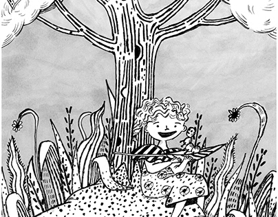 Tanya and Lil - Under the tree process