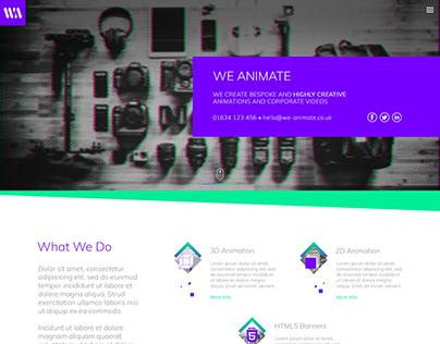 WeAnimate Web Design