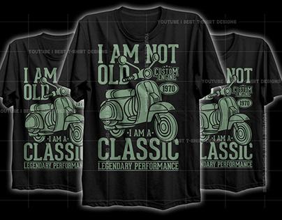 Vintage Classic Vespa T-Shirt Design