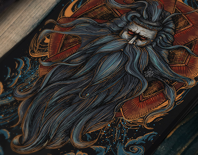 "T-Shirt Design. llustration ""Svarog"" by Julia Art"