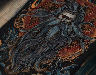 """T-Shirt Design. llustration """"Svarog"""" by Julia Art"""