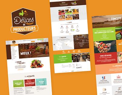 Délices de Producteurs (Branding & Web)