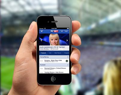 Sky Bet app re-design 2013