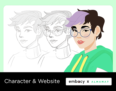 ALMAMAT. Character & Website