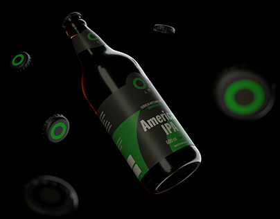 3D Beer bottle - Loop.