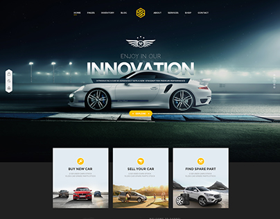 Saprol - Dealership PSD template