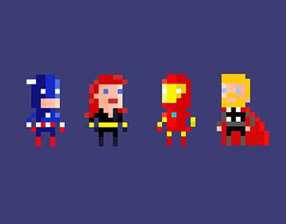 Marvel Heroes - Pixel Art