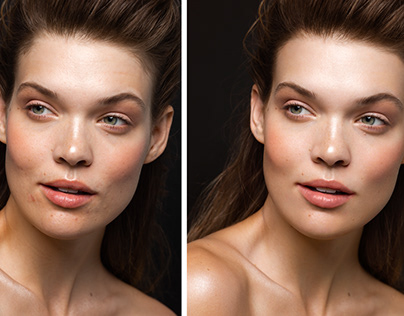 Recent before and after retouched images.