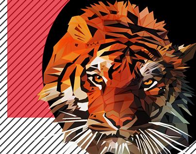 Tigre en vectores