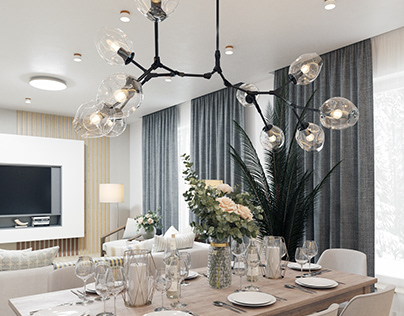 Scandinavian style residential design project