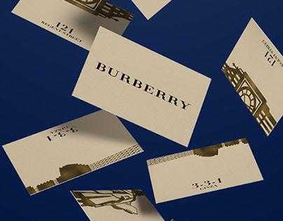 Burberry POS branding concept