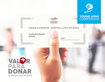 Valor para donar - Hospital León Becerra