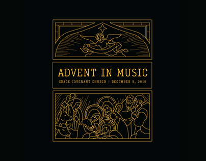 Advent in Music Illustration
