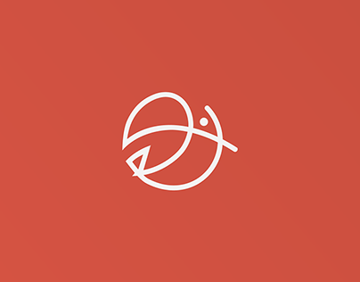 One line logos - bird collections