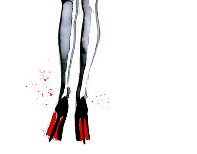 Black & White legwear