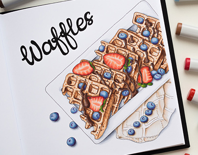 Waffles Illustration / Copic Markers