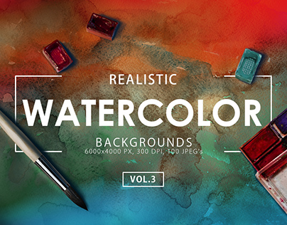 100 Watercolor Backgrounds 3