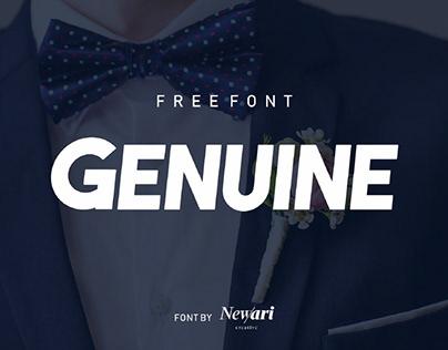 GENUINE - FREE BOLD & ELEGANT FONT