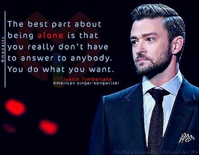 Justin Timberlake. alone-quotes