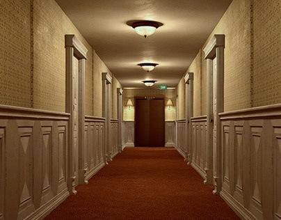 Motel corridor