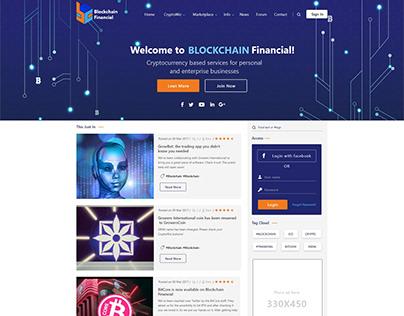 Latest Trending 2019 Blockchain landing page, themes