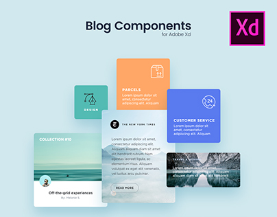 Blog Components for Adobe Xd - Freebie