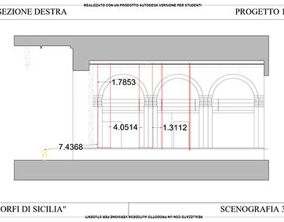 """Scenografia Teatro Niccolini """"Orfi di Sicilia"""" ABANA"""