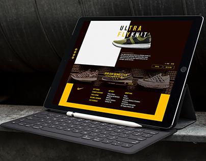 Nike Web Design/UI/UX.
