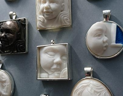 Bespoke Sculpted Cameos