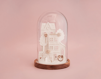 Paper Houses for Tea Label