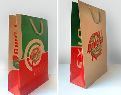 Shopping bag for the eixir brand oil