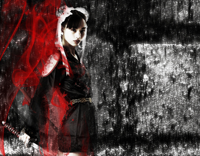 The Girl with The Red Smoke Saber