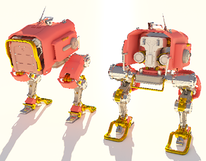 robot modeling and texturing, vray 3ds max