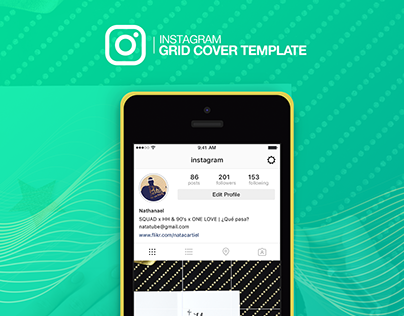 Instagram Grid Cover TEMPLATE