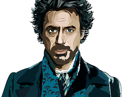 Robert Downey Jr illustrations