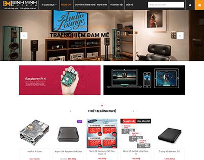 Ecommerce Website Brand BinhMinhAVtech