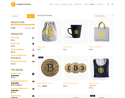 Shop Page - Cryptocurrency WordPress Theme