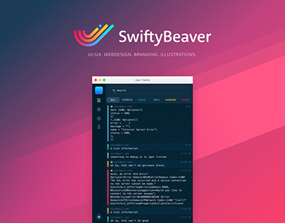 Design for SwiftyBeaver Mac app
