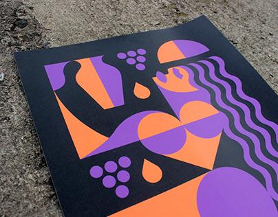 Illustration for exhibition. Kyiv.