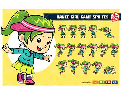 Dance Girl Game Sprites