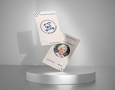 Personaliteenus logo and business card