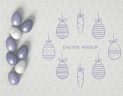 3D Easter Mockup
