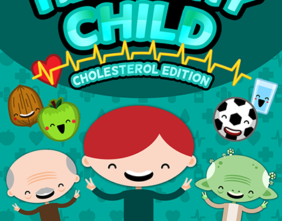 Healthy Child: Video game 2D vector art