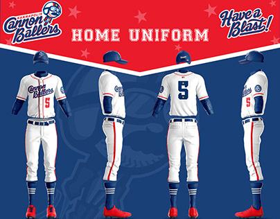 2020 Kannapolis Cannon Ballers 3D Uniform