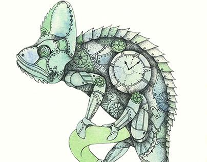 steampunk chameleon