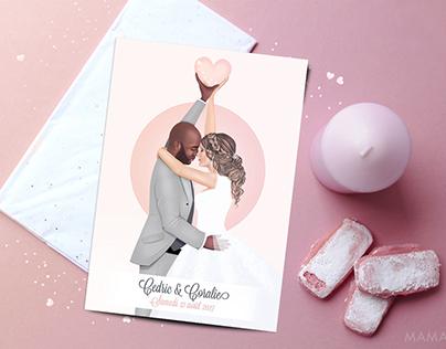 Illustration : le Mariage de Cédric & Coralie