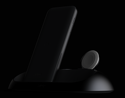 Three-in-one wireless charging preview