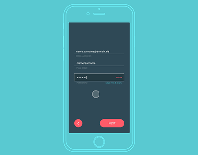 Daily UI #001 - The Sign Up / Login process on mobile