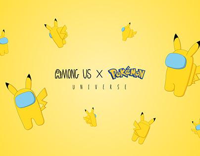 Among Us x Pikachu 2D Character Design